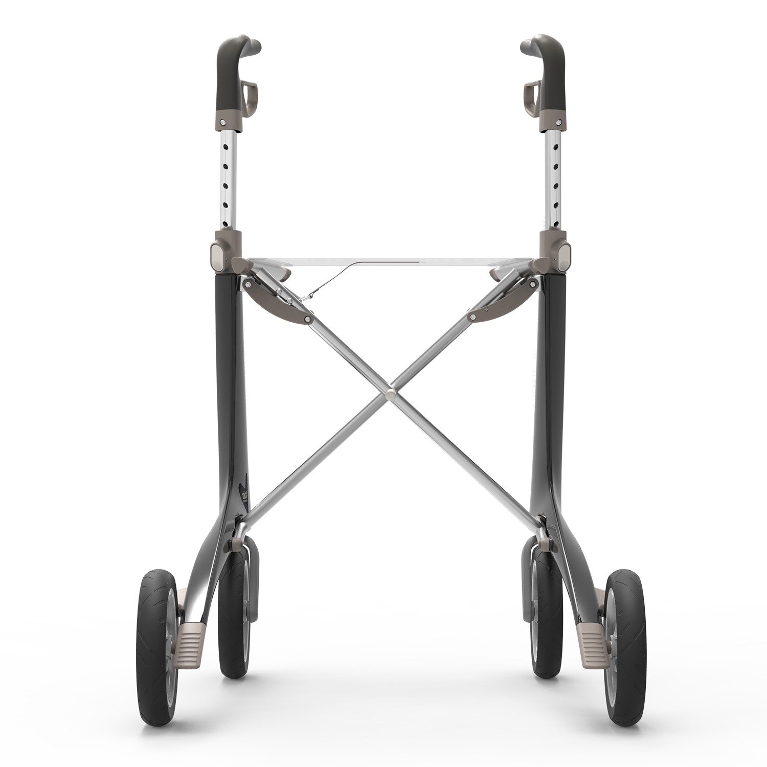 Carbon Ultralight Rollator in Carbon Black byACRE - seen from the back