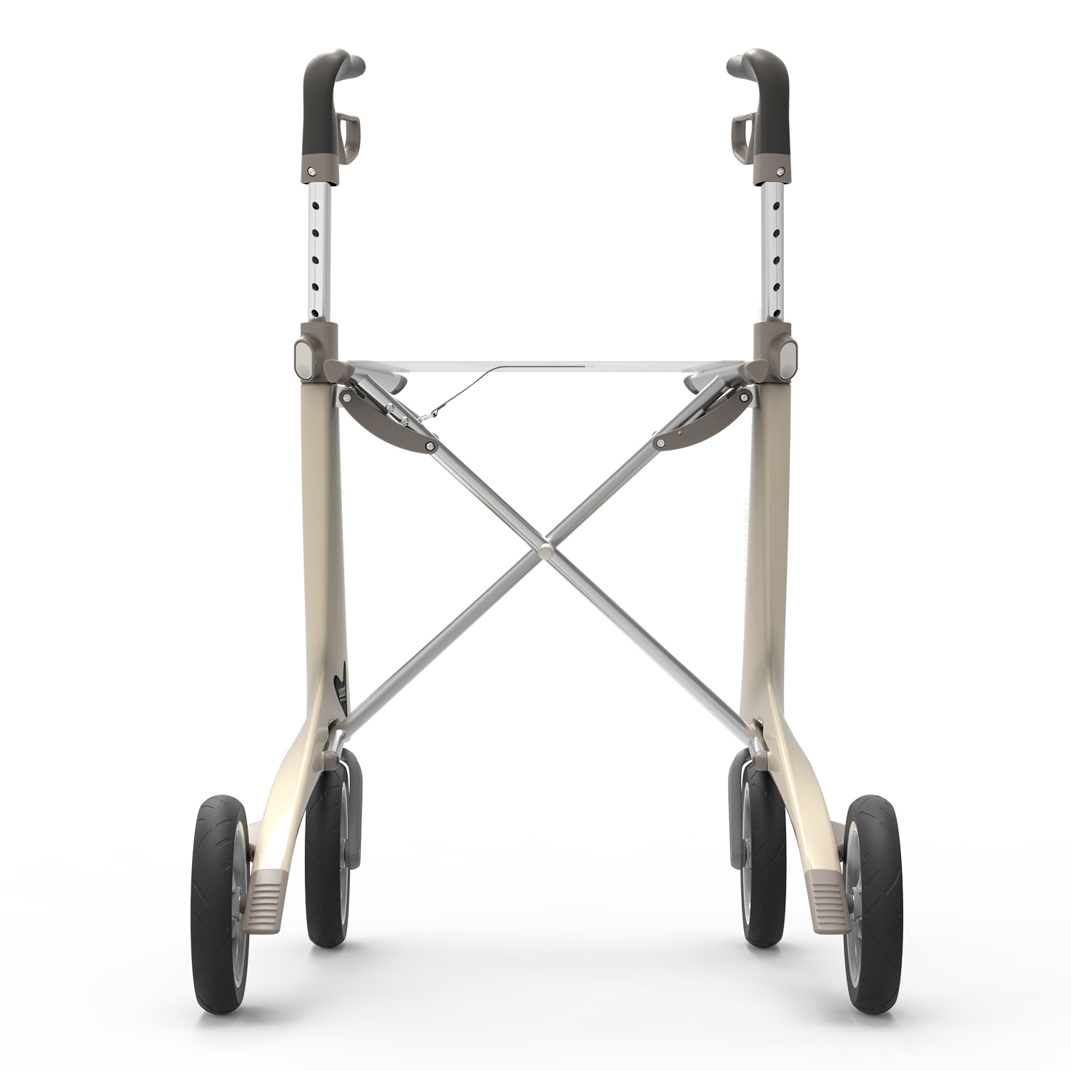 Carbon Ultralight Rollator in Oyster White byACRE - seen from the back