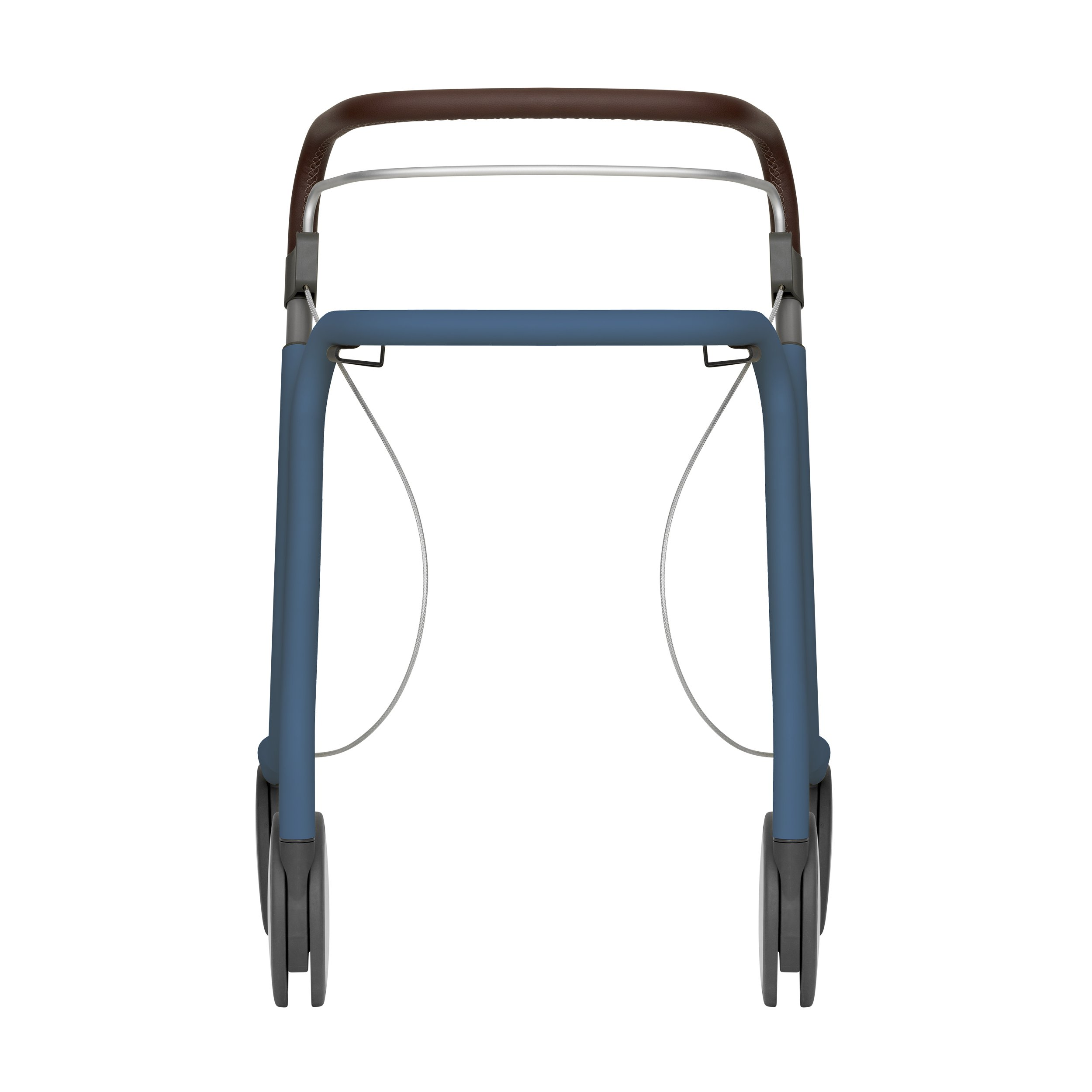 Scandinavian Butler rollator in Azure Blue byACRE - seen from the front