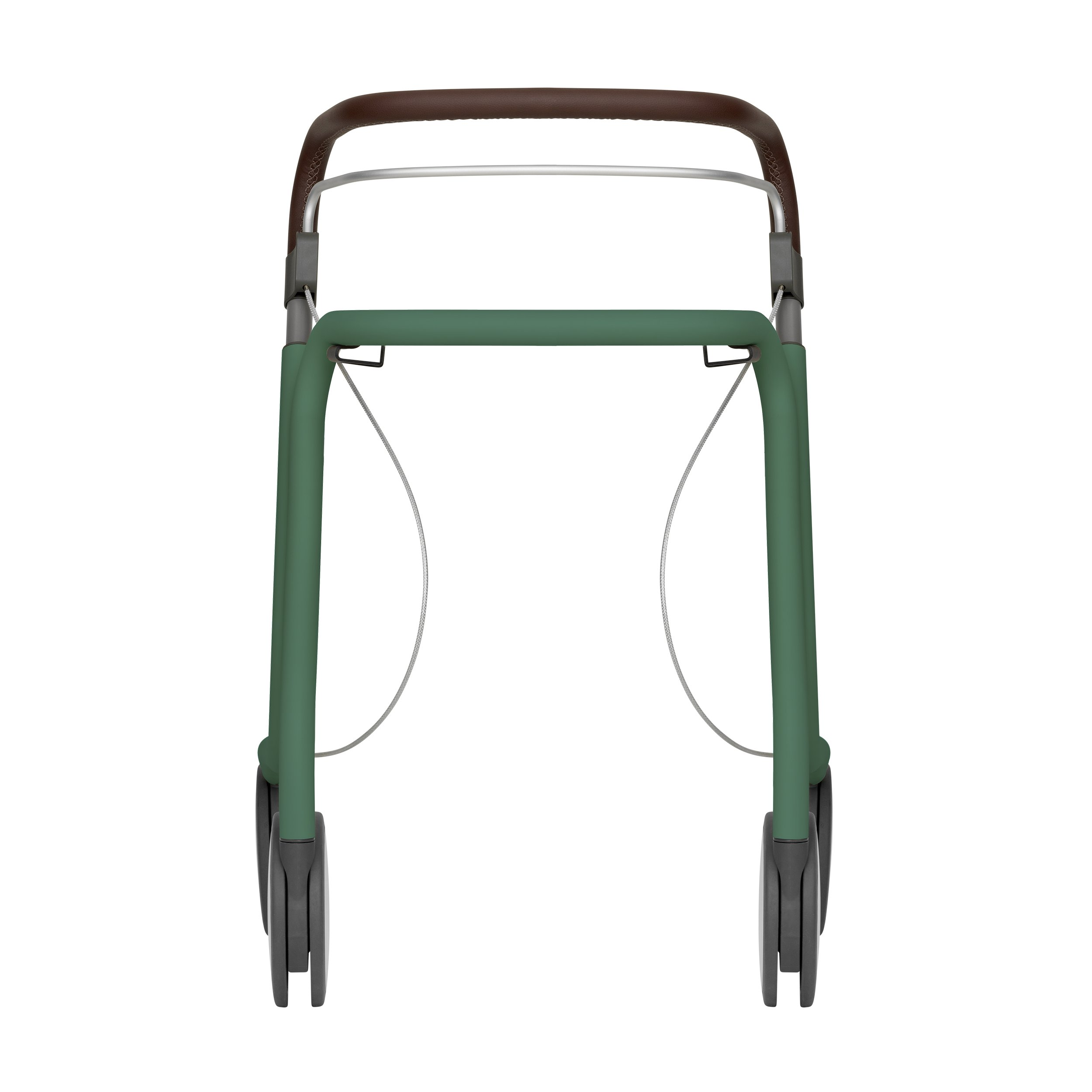 Scandinavian Butler rollator in Patina Green - seen from the front