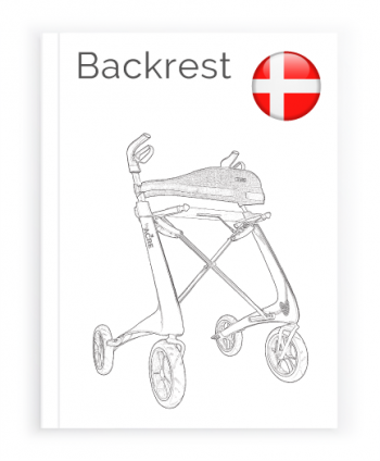Front page of the Danish User Manual for Backrest byACRE