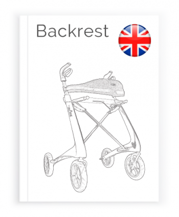 Front page of the English User Manual for Backrest byACRE