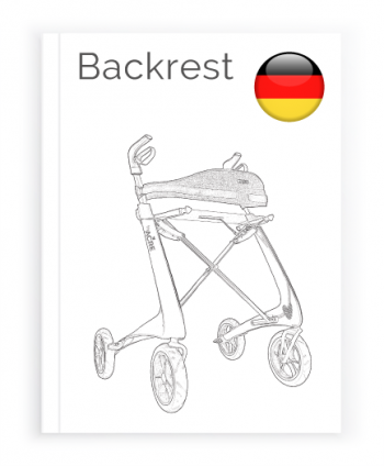 Front page of the German User Manual for Backrest byACRE