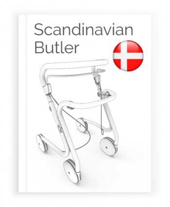 Front page of the Danish User Manual for Scandinavian Butler Rollator byACRE