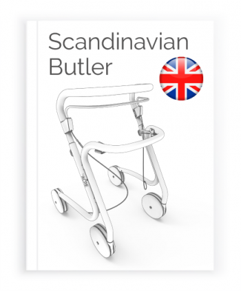 Front page of the English User Manual for Scandinavian Butler Rollator byACRE