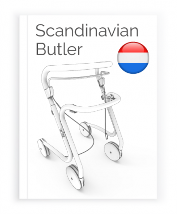 Front page of the Dutch User Manual for Scandinavian Butler Rollator byACRE