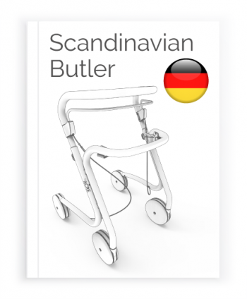 Front page of the German User Manual for the Scandinavian Butler Rollator byACRE
