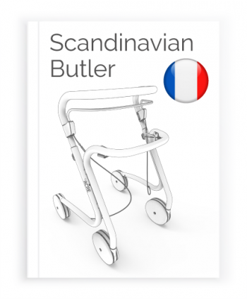 Front page of the French Manual for the Scandinavian Butler Rollator byACRE